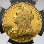 GREAT BRITAIN Victoria ヴィクトリア(1837~1901) 2Pounds 1893 NGC-PF61 Cameo Proof AU