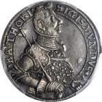 TRANSYLVANIA. Taler, 1593/2. Baia Mare (Nagybanya) Mint. Sigismund Bathory. PCGS Genuine--Tooled, EF