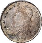 1824 Capped Bust Half Dollar. O-115. Rarity-2. MS-63 (PCGS).