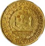 CHILE. 8 Escudos, 1834-So I. Santiago Mint. NGC AU-55.