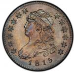 1815 Capped Bust Quarter. Browning-1. Rarity-1. Mint State-66 (PCGS).PCGS Population: 3, none finer.