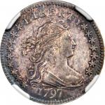 1797 Draped Bust Dime. JR-1. Rarity-4. 16 Stars. MS-63 (NGC).