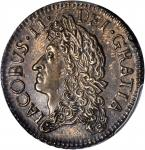 IRELAND. 1/2 Crown, 1690-May. PCGS AU-58 Secure Holder.