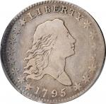 1795 Flowing Hair Half Dollar. O-102b, T-26. Rarity-7. Two Leaves. VG Details--Graffiti (PCGS).