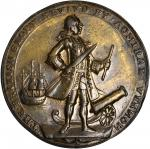 1739 Admiral Vernon Medal. Porto Bello Medals with Vernons Portrait and Icons. Pinchbeck Brass. 37.0