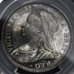 GREAT BRITAIN Victoria ヴィクトリア(1837~1901) 1/2Crown 1893 PCGS-PR64 CAM Proof UNC+