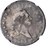 1795 Flowing Hair Half Dollar. O-124, T-12. Rarity-5. Two Leaves. VF-35 (NGC).