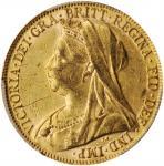 AUSTRALIA. Sovereign, 1899-P. Perth Mint. Victoria. PCGS AU-55 Gold Shield.
