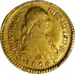 COLOMBIA. Escudo, 1804-JT. Popayan Mint. PCGS Genuine--Cleaned, EF Details Gold Shield.