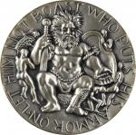 1961 (1979) David and Goliath. Re-Issue. Silver. 73 mm. 249.0 grams. 999 fine. By Nathaniel Choate.