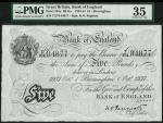 Bank of England, K.O. Peppiatt, £5, Birmingham 1 October 1937, prefix T274, black and white, ornate