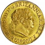 GREAT BRITAIN. Sovereign, 1820. London Mint. George III. PCGS MS-62 Gold Shield.
