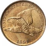 1857 Flying Eagle Cent. Type of 1857. MS-64 (PCGS). CAC.