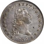 1795 Flowing Hair Silver Dollar. BB-18, B-7. Rarity-3. Three Leaves--Silver Plug--EF-45 (PCGS). Secu