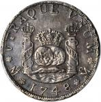 MEXICO. 4 Reales, 1748-MoMF. Mexico City Mint. Ferdinand VI (1746-1759). PCGS AU-53 Secure Holder.
