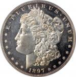 1897 Morgan Silver Dollar. Proof-65 Cameo (PCGS). CAC.
