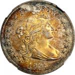 1796 Draped Bust Silver Dollar. BB-61, B-4. Rarity-3. Small Date, Large Letters. AU-58 (NGC).