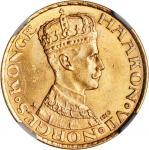 NORWAY. 20 Kroner, 1910. Kongsberg Mint. NGC MS-64.