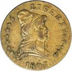 1803 Capped Bust Right Quarter Eagle Kettle Token. Judd-C1803-1, Pollock-8001. Rarity-6. Brass. Reed