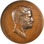1873 Ulysses S. Grant Presidential Medal. Bronzed Copper. 75.8 millimeters. By William and Charles E