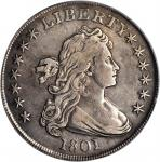 1801 Draped Bust Silver Dollar. BB-212, B-2. Rarity-3. VF Details--Altered Surfaces (PCGS).