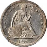 1846-O Liberty Seated Silver Dollar. AU Details--Improperly Cleaned (NGC).