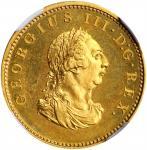 IRELAND. Gilt Farthing, 1806. Soho (Birmingham) Mint. George III. NGC PROOF-66+.