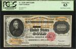 Fr. 1225h. 1900 $10,000 Gold Certificate. PCGS Currency Choice New 63. Hole Punch Cancelled.