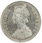 BRITISH INDIA: Victoria, Empress, 1876-1901, AR 2 annas, 1884(c), KM-488, S&W-6.379, lustrous fields