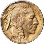 1916-S Buffalo Nickel. MS-65 (PCGS).