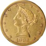 1882-CC Liberty Head Eagle. AU Details--Improperly Cleaned (NGC).