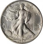 1920-S Walking Liberty Half Dollar. MS-64+ (PCGS). CAC.
