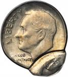 Undated Roosevelt Dime--Broadstruck and Double Struck-- Second Strike 90% Off Center--MS-62 (PCGS).