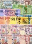 x A Selection of British Commonwealth Banknotes, comprising Fiji, $5, 10, 20, 50 and 100, ND (2013),