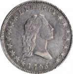 1795 Flowing Hair Half Dollar. O-126a, T-22. Rarity-4+. Small Head, Two Leaves. AU Details--Tooled (