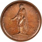 1883 Evacuation Day / Wall Street Statue American Numismatic Society Medal. Bronze. 57.3 mm. Musante