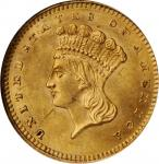1862 Gold Dollar. MS-62 (NGC). CAC. OH.