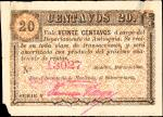 COLOMBIA. Departamento de Antioquia. 20 Centavos. 1900-1901. Types from Different Series.