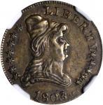 1803 Capped Bust Right Quarter Eagle Kettle Token. Judd-C1803-1, Pollock-8001. Rarity-6. Brass. Plai