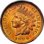 1889 Indian Cent. MS-66 RD (PCGS).
