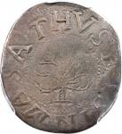 1652 Oak Tree Shilling. Noe-5, Salmon 3-D, W-470. Rarity-2. IN at Bottom. VF Details--Cleaning (PCGS