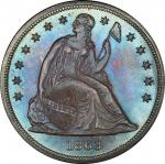 1863 Liberty Seated Silver Dollar. OC-1. Rarity-3-. MS-67 (PCGS).