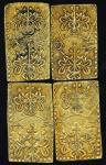 日本 文政二分判金(草文二分) Bunsei-2Bu-Ban-Kin(Sobun 2bu) 文政11年~天保3年(1828~32)  计4枚组 4pcs  (VF+)美品