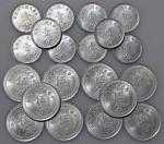 China, Republican,a lot of aluminium 10 x 1 fen and 10 x 5 fen, 1940,value and year on obverse, Bu c