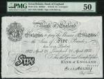 Bank of England, Ernest Musgrave Harvey (1918-1925), 」5, Liverpool, 28 February 1922, serial number