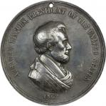 1862 Abraham Lincoln Indian Peace Medal. Silver. First Size. Second Reverse. Julian IP-38, Prucha-51