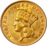 1878 Three-Dollar Gold Piece. MS-62 (PCGS).
