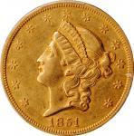 1851自由帽双鹰金币 PCGS AU 53