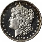 1878 Morgan Silver Dollar. 7 Tailfeathers. Reverse of 1878. Proof-63+ Cameo (PCGS). CAC.