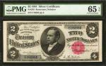 Fr. 245. 1891 $2 Silver Certificate. PMG Gem Uncirculated 65 EPQ.